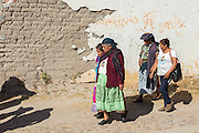 Indigenous pilgrims walk to the Sanctuary of Atotonilco an important Catholic shrine in Atotonilco, Mexico.