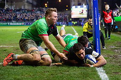 Jackson Willison of Bath Rugby scores a try in the second half - Mandatory byline: Patrick Khachfe/JMP - 07966 386802 - 10/01/2020 - RUGBY UNION - The Recreation Ground - Bath, England - Bath Rugby v Harlequins - Heineken Champions Cup