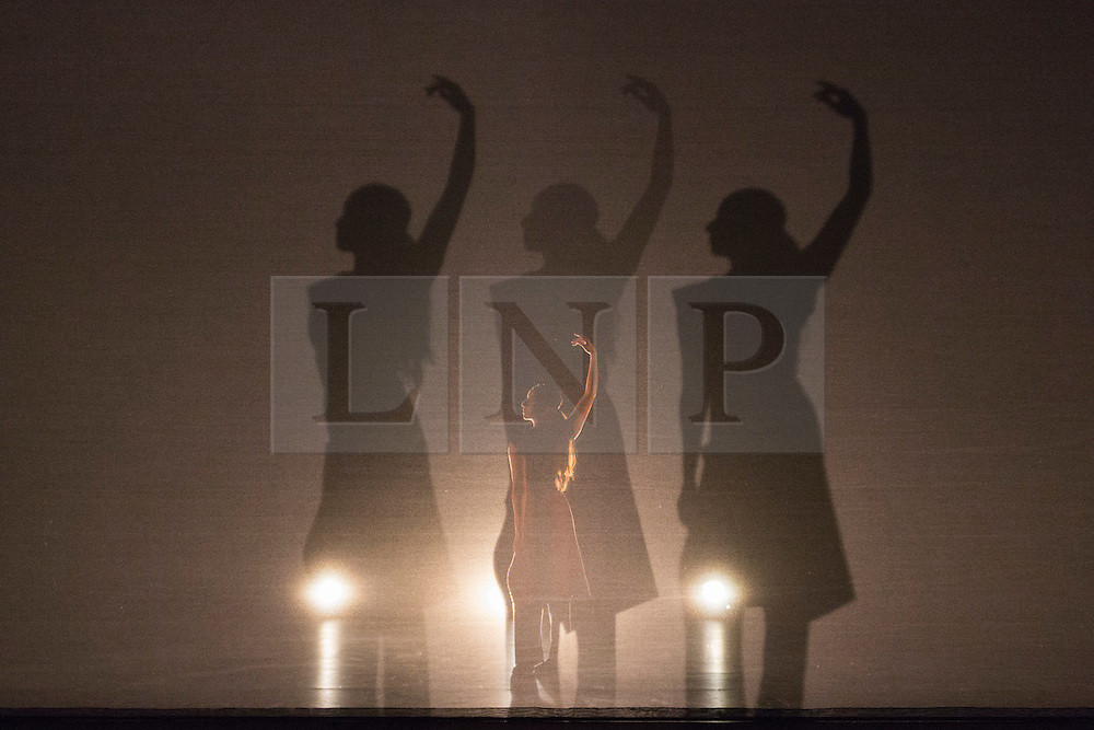 © Licensed to London News Pictures. 24/11/2015. London, UK. Dana Fouras performing  Russell Maliphant Company present Conceal / Reveal at Sadler's Wells from 26 to 28 November 2015. Conceal / Reveal is the 20th anniversary celebration between dance choreographer Russell Maliphant and lighting designer Michael Hulls. Photo credit: Bettina Strenske/LNP