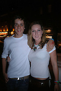 Jules emmet and Georgina Darlington. Manhattan A* List party in aid of the British Dyslexia association. Raffles nightclub. King's Rd. London. 29 August 2005. ONE TIME USE ONLY - DO NOT ARCHIVE  © Copyright Photograph by Dafydd Jones 66 Stockwell Park Rd. London SW9 0DA Tel 020 7733 0108 www.dafjones.com