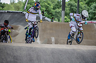 #6 (SAKAKIBARA Saya) AUS and #1 (SMULDERS Laura) NED at Round 6 of the 2019 UCI BMX Supercross World Cup in Saint-Quentin-En-Yvelines, France