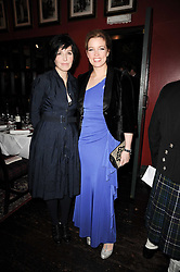 Left to right, SHARLEEN SPITERI and AMANDA HAMILTON at the Johnnie Walker Blue Label great Scot Award 2010 in association with The Spectator and Boisdale held at Boisdale of Belgravia, 22 Ecclestone Street, London SW1 on 24th February 2010.