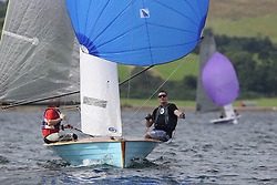 Peelport Clydeport Largs Regatta Week 2013 <br /> <br /> Merlin Rocket, 3525, Maid of Ply, John reekie and Andrew Hooton<br /> <br /> Largs Sailing Club, Largs Yacht Haven, Scottish Sailing Institute