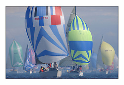 Racing at the Bell Lawrie Yachting Series in Tarbert Loch Fyne ..GBR 8370, Thornoxon a first 42.
