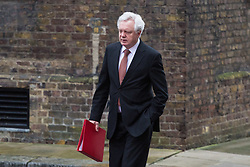 London - Secretary of State for Exiting the European Union David Davis attends the weekly meting of the UK cabinet at Downing Street. January 23 2018.