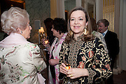 THE DOWAGER DUCHESS OF DEVONSHIRE; CHARLOTTE MOSLEY, The Dowager Duchess od Devonshire and Catherine Ostler editor of the Tatler host a party to celebrate Penguin's reissue of Nancy Mitford's ' Wigs on the Green.'  The French Salon. Claridge's. London. 10 March 2010.