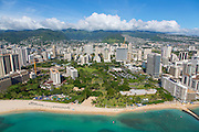 Aerial, Fort Derussey, Waikiki, Honolulu, Oahu, Hawaii