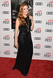 HOLLYWOOD, CA - NOVEMBER 16: Actress attends AFI FEST 2017 Closing Night Gala - Screening of 'Molly's Game' at TCL Chinese Theatre on November 16, 2017 in Hollywood, California. 16 Nov 2017 Pictured: HOLLYWOOD, CA - NOVEMBER 16: Actress Jessica Chastain attends AFI FEST 2017 Closing Night Gala - Screening of 'Molly's Game' at TCL Chinese Theatre on November 16, 2017 in Hollywood, California. Photo credit: Jeffrey Mayer / MEGA TheMegaAgency.com +1 888 505 6342