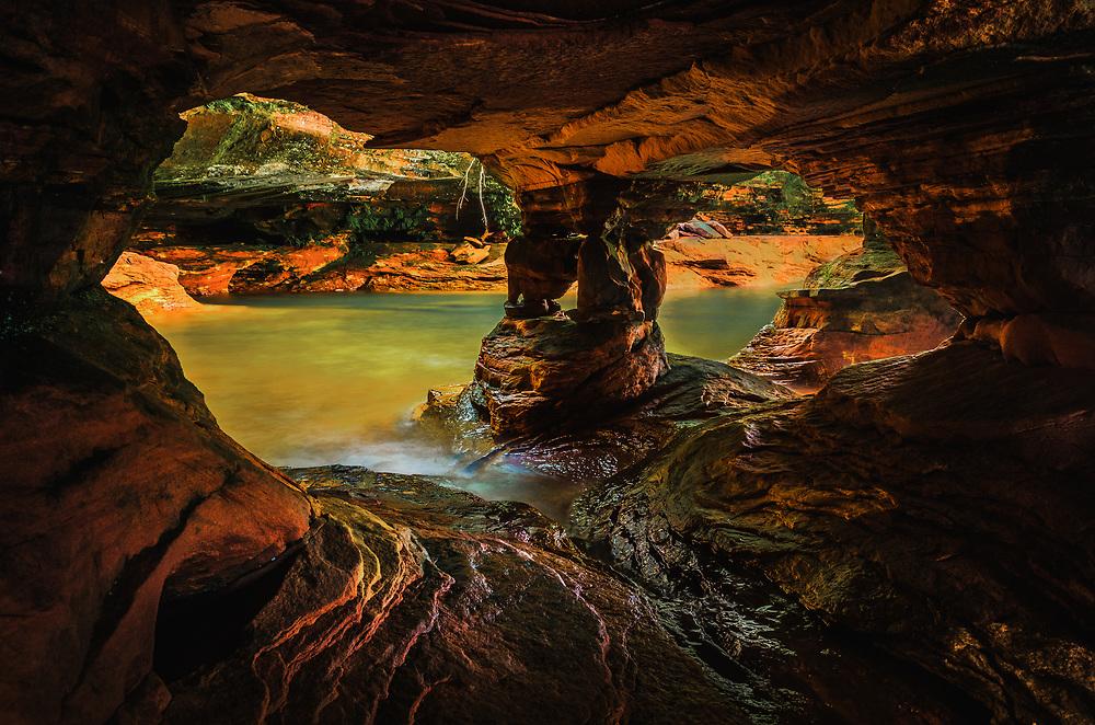 Sea cave at Sand Island, Apostle Islands, Wisconsin.