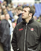 Reading. England. UK. Gloucester Rugby Coach, Philippe SAINT-ANDRE. before the start of the  <br /> Premiership Rugby. London Irish vs Gloucester Rugby. 16.04.2001. Madejski Stadium. <br /> <br /> [Mandatory Credit, Peter Spurrier/ Intersport Images].