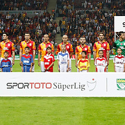 Galatasaray's team group during their Turkish Super League soccer match Galatasaray between Kayserispor at the TT Arena at Seyrantepe in Istanbul Turkey on Saturday, 27 October 2012. Photo by TURKPIX