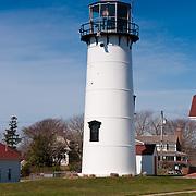 Chatham lighthouse on the beach, Cape Cod