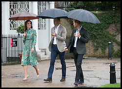 August 30, 2017 - London, London, United Kingdom - Image licensed to i-Images Picture Agency. 30/08/2017. London, United Kingdom. The Duke and Duchess of Cambridge and Prince Harry arriving at the White Garden in the grounds of Kensington Palace in London, which has been created to mark the twentieth anniversary of the death of Princess Diana.  Picture by Stephen Lock / i-Images (Credit Image: © Stephen Lock/i-Images via ZUMA Press)