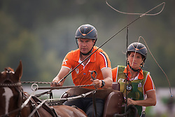 Koos De Ronde, (NED), Bilbo, Palero, Ulano, Zimba, Zimon - Driving Marathon - Alltech FEI World Equestrian Games™ 2014 - Normandy, France.<br /> © Hippo Foto Team - Dirk Caremans<br /> 06/09/14