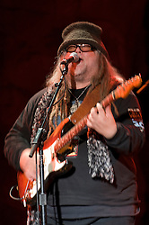 Papa Mali Guitarist performing with 7 Walkers in Concert in The Wolfs Den at Mohegan Sun Casino on December 9, 2010