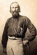 Giuseppe Garibaldi (1807-1882)in  Naples, Italy, 1861. Italian soldier, nationalist and politician. Three-quarters portrait standing facing front.
