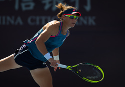 October 1, 2018 - Sam Stosur of Australia in action during her first-round match at the 2018 China Open WTA Premier Mandatory tennis tournament (Credit Image: © AFP7 via ZUMA Wire)