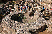 The excavation of the Roman ruins of Tiberias, The ruins are south of Todays Tiberias, Israel. One of the gate hinges