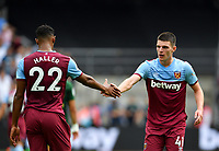 Football - 2019 Betway Cup (pre-season friendly) - West Ham vs. Athletic Bilbao<br /> <br /> West Ham United's Declan Rice congratulates Sebastien Haller who sets up Jack Wilshere for the equalising goal, at The London Stadium.<br /> <br /> COLORSPORT/ASHLEY WESTERN