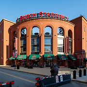 Busch Stadium, home of the St, Louis Cardinals, Ballpark Village area, downtown St. Louis, Missouri