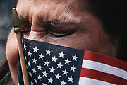 Isabel Hernandez, of Mexico, tears up as she becomes a U.S. citizen during a Naturalization Ceremony, Tuesday, July 4, 2017 at Fisher Pavilion. Five hundred and six people from 67 different countries were naturalized as United States citizens.