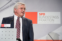 14 JAN 2010, BERLIN/GERMANY:<br /> Frank-Walter Steinmeier, SPD Fraktiionsvorsitzender, haelt eine Rede, Neujahrsempfang der SPD Bundestagsfarktion, Fraktionsebene, Deutscher Bundestag<br /> IMAGE: 20100114-02-003