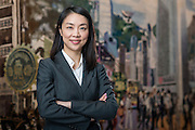 Hang Seng Executive, Belle Liang  on May 23, 2014 in Hong Kong, China. Photo by Victor Fraile / studioEAST