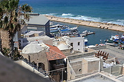Elevated view of the ancient port of Jaffa, Israel
