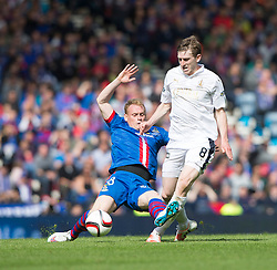 Inverness Caledonian Thistle's Carl Temarco brings down Falkirk's Blair Alston and gets a red card. Falkirk 1 v 2 Inverness CT, Scottish Cup final at Hampden.
