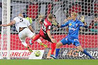 Goal Ala Eddine YAHIA - 03.12.2014 - Guingamp / Caen - 16eme journee de Ligue 1 <br />Photo : Vincent Michel / Icon Sport