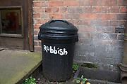 Rubbish bin in Birmingham, England, United Kingdom.