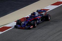 April 7, 2018 - Sakhir, Kingdom of Bahrain - BRENDON HARTLEY of Scuderia Toro Rosso Honda drives during the 2018 FIA Formula 1 Bahrain Grand Prix qualifying session at Bahrain International Circuit in Sakhir, Kingdom of Bahrain. (Credit Image: © James Gasperotti via ZUMA Wire)