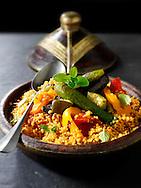 Couscous with Mediterranean roast vegetables