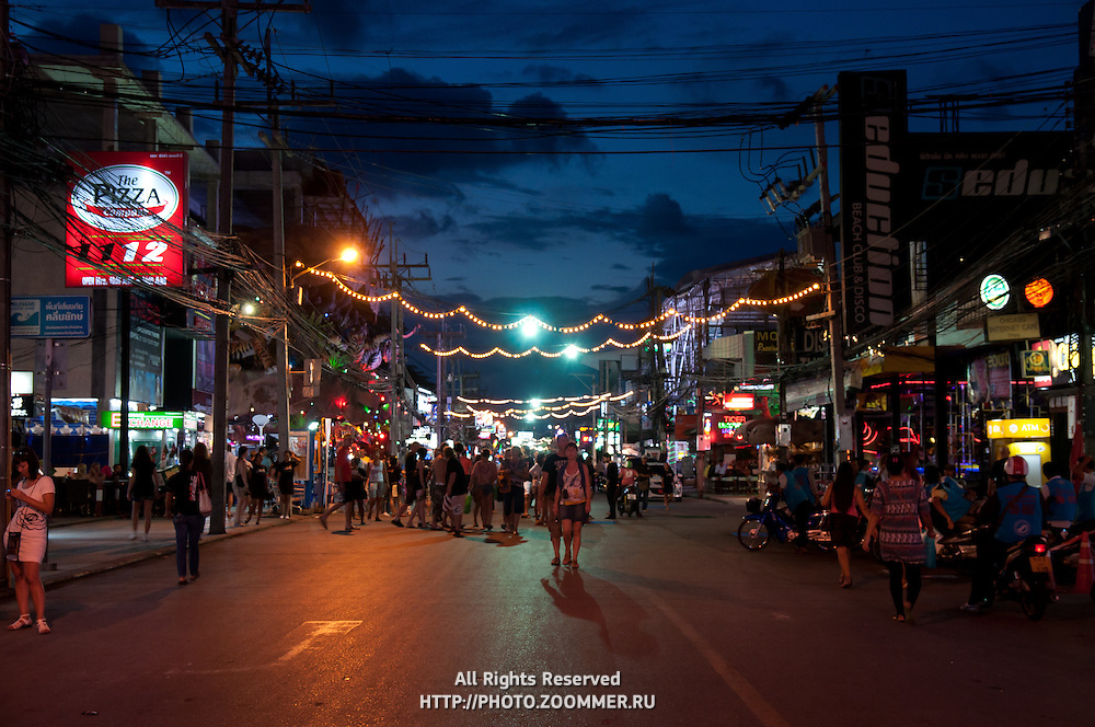 Bangla Road - the walking street on Patong beach in Phuket, Thailand