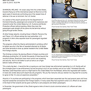 """Tearsheet of """"US security at Shannon Airport"""" published in The Star Tribune"""