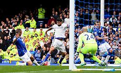 Diego Costa of Chelsea attacks - Mandatory byline: Matt McNulty/JMP - 07966386802 - 12/09/2015 - FOOTBALL - Goodison Park -Everton,England - Everton v Chelsea - Barclays Premier League
