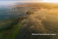 63893-03706 Sunrise and fog aerial view Marion Co. IL