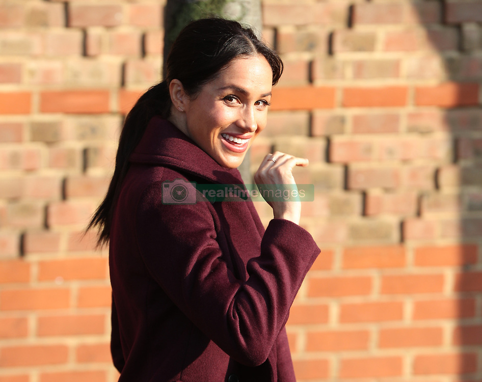 The Duchess of Sussex waves as she leaves the Hubb Community Kitchen, London, following a visit to see how the funds raised by Together: Our Community Cookbook are making a difference.