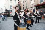 """Macnas entertain with """"UISCE BATHA""""  on the Galway Whiskey Trail launch day where 10 pubs in Galway have a selection of the finest Irish Whiskies.<br /> Photo:Andrew Downes, xposure"""