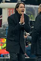 Filippo Inzaghi Milan<br /> Milano 13-01-2015 Stadio Giuseppe Meazza - Football Calcio Coppa Italia Milan - Sassuolo. Foto Giuseppe Celeste / Insidefoto