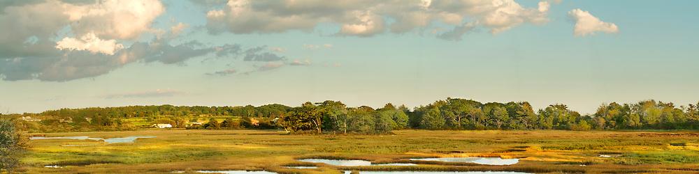 Maine ocean marsh view