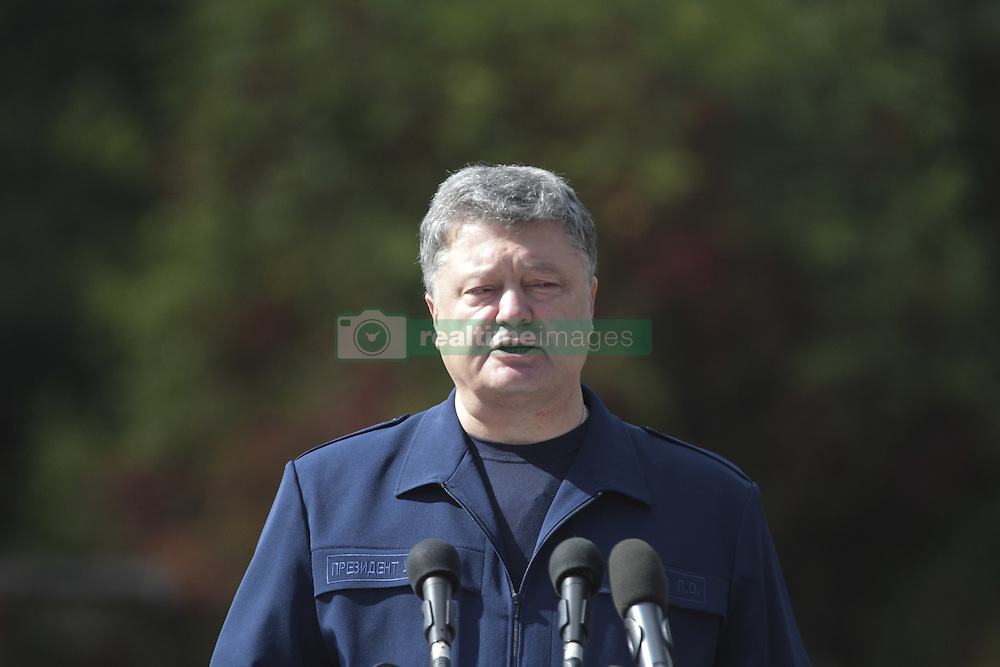 September 17, 2016 - Kozin Village, Ukraine - Celebrations on the occasion of Rescuer's Day, with the participation of the President Petro Poroshenko (Credit Image: © Nazar Furyk via ZUMA Wire)