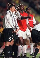 Patrick Vieira (Arsenal). Arsenal 3:2 FC Shakhar Donetsk, UEFA Champions League, Group B, 20/9/2000. Credit Colorsport / Stuart MacFarlane.