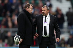 New Zealand head coach Steve Hansen (left) with assistant coach Ian Foster
