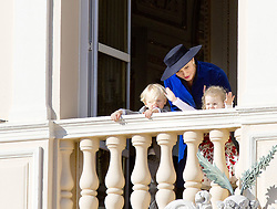 November 19, 2017 - Monte Carlo, MONACO - 19-11-2017 Monaco Princess Charlene of Monaco with Prince Jacques of Monaco and Princess Gabriella of during the Monaco National Day Celebrations in Monaco...© PPE/Nieboer.Credit: PPE/face to face.- No rights for the Netherlands  (Credit Image: © face to face via ZUMA Press)