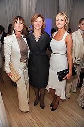 Left to right, MEG MATTHEWS, SARAH BROWN and TESS DALY at a private dinner for the White Ribbon Alliance's Global Dinner Party Campaign, at Agua, Sanderson Hotel, Berners Street, London on 4th March 2010.