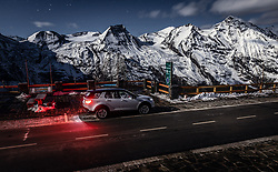 08.10.2019, Grossglockner Hochalpenstrasse, Fusch a.d. Grs, AUT, Land Rover Discovery Sport im Bild Aussenansicht des SUV bei Nacht am Fuschertörl vor dem Glocknermassiv. // Exterior view of the Land Rover Discovery Sport SUV at night at the Fuscher Törl in front of the Glockner mountains, Grossglockner Hochalpenstrasse, Fusch an der Glocknerstrasse, Austria on 2019/10/08. EXPA Pictures © 2019, PhotoCredit: EXPA/ JFK