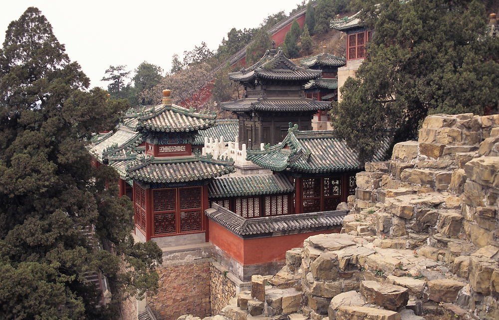 """Summer Palace, Yihe Yuan, """"Gardens of Nurtured Harmony"""", Beijing, Qingyi Yuan, """"Garder of Clear Ripples"""", summer resort for Empress Dowager Cixi, China, PRC,, Middle Kingdom,"""