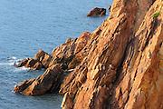 Rocky coastline of Cabot Trail<br /> Cape Breton Highlands National Park<br /> Nova Scotia<br /> Canada