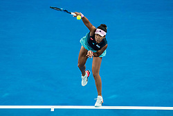 January 26, 2019 - Melbourne, VIC, U.S. - MELBOURNE, VIC - JANUARY 26: NAOMI OSAKA (JPN) during day thirteen match of the 2019 Australian Open on January 26, 2019 at Melbourne Park Tennis Centre Melbourne, Australia (Photo by Chaz Niell/Icon Sportswire (Credit Image: © Chaz Niell/Icon SMI via ZUMA Press)